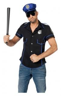 Polizist Kostüm Herren Polizei Cop Hemd Polizistenkostüm Fasching Herrenkostüm K