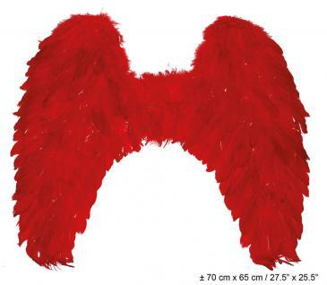 Teufelsflugel Federflügel rot Flügel rot Teufel Flügel Halloween Karneval KK