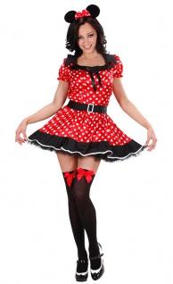 Minnie Maus Kostüm Damen sexy Minni Micky Mouse Kleid Karneval Damen-Kostüm KK