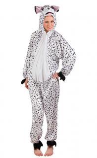 Dalmatiner Kostüm Damen Plüsch 101 Dalmatiner-Overall Tier Hund Damen-Kostüm KK