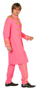 70er Jahre Kostüm Sergeant Pepper Beatles pink Jacke Hose Fasching Karneval KK