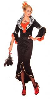 Cruella De Vil Kostüm Evil 101 Dalamtiner Damen-Kostüm Fasching Karneval KK