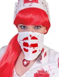 Mundschutz Blut blutig Maske blutverschmierte Gesichtsmaske Zombie Halloween KK