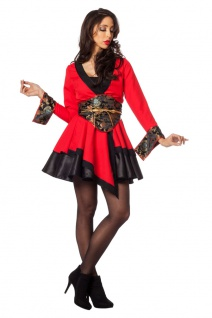 Geisha Kostüm Japan Damen Japanerin rot sexy Geishakostüm Karneval Fasching KK