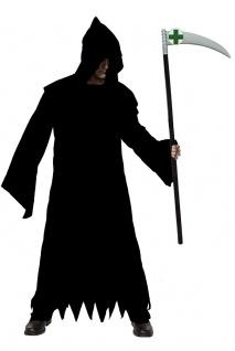 Sensenmann Kostüm Herren Der Tod Grim Reaper MIT Sense Halloween grusel Horror K