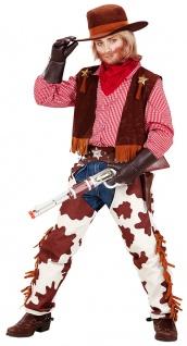 Cowboy Kostüm Kinder Cowboy Weste Kinder mit Cowboy-Chaps und Cowboy-Hut KK