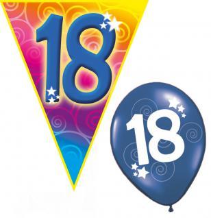 Set Geburtstag Luftballons und Girlanden 18 Jahre