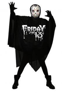 Karneval Klamotten Kostüm Jason Halloween Horror Herrenkostüm