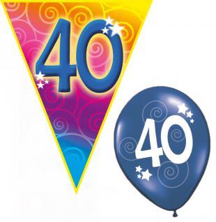 Set Geburtstag Luftballons und Girlanden 40 Jahre