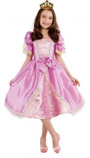 Kinder Geburtstag Party Kostüm Set: Barock Prinzessin Kleid Kind INKL Krone gold