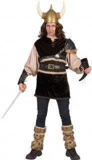 Wikinger-Kostüm Herren Nordmann-Kostüm Viking Vikings mit Stulpen Herren-Kostüm