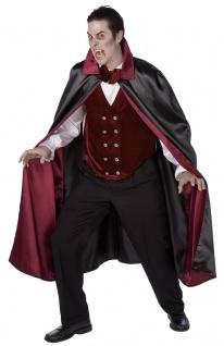 Vampir Umhang Herren bordeaux schwarz Gothic Dracula Herrenkostüm Halloween KK