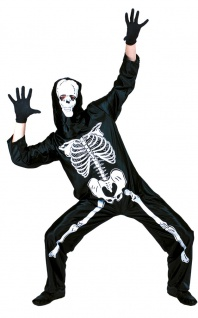 Skelett Kostüm Herren Overall mit Aufdruck Horror-Kostüm KK