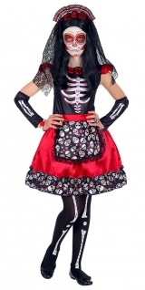 Tag der Toten Kostüm Mädchen Kostüm Dia de Los Muertos Kostüm Halloween KK