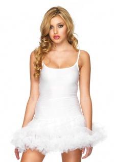 Petticoat Kleid mit Tüllrock Unterrock weiß Damen Kostüm Fasching Karneval KK