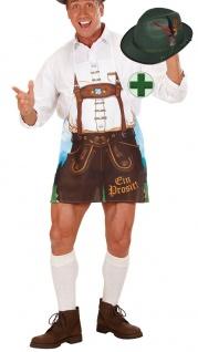 Schürze Oktoberfest Herren INKL. Seppl Hut Trachten Hut Bayern Hut