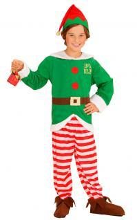 Weihnachtshelfer Weihnachtself Wichtel Kinder Jungen Weihnachtskostüm 3-tlg. KK