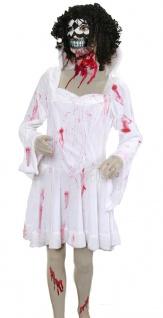 blutige Zombie Eisprinzessin Kostüm Damen Horror Halloween Fasching Karneval KK