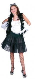 Petticoat Damen Tüllrock Unterrock Tütü Knielang 59 cm. schwarz Karneval KK