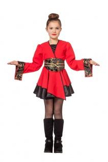 Karneval Klamotten Kostüm Chinesin rot Mädchen Karneval Japan Mädchenkostüm