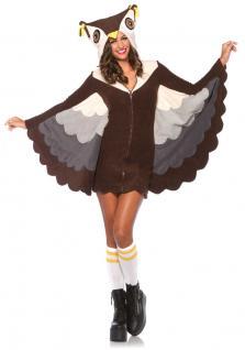 Karneval Klamotten Kostüm Eule Dame Luxus Karneval Vogel Damenkostüm