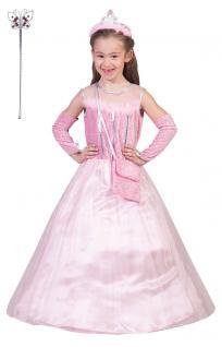 Kinder Geburtstag Party Kostüm Set: Prinzessin Kleid rosa + Schmetterling-Stab