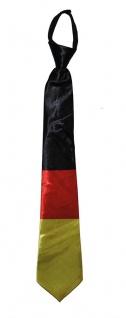 Krawatte Deutschland Deutsche Flagge Fan schwarz rot gold EM WM Fußball KK