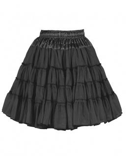 Petticoat schwarz 2-Lagig Unterrock Reifrock Tüllrock 50er Karneval Faching KK