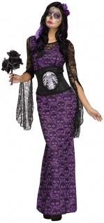Tag der Toten Kostüm Dia de Los Muertos Kostüm Halloween Damen Kostüm KK - Vorschau