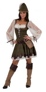 Karneval Klamotten Kostüm Robin Hood Dame Kostüm Karneval Abenteuer Damenkostüm