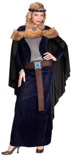 Burgfräulein Kostüm Damen Burgfrau-Kleid Mittelalter Prinzessin Ritterdame KK