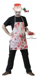 Horror Kostüm Herren blutige Zombie Schürze Zylinder Blut KK