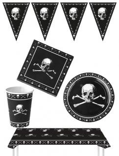 Halloween Party Raum Deko Girlanden Tisch Dekoration Totenköpfe KK