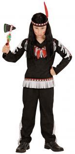 Indianer Kostüm Kinder-Kostüm Junge Kostüm Indianer schwarz weiß KK