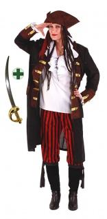 Piratenkostüm Damen Seeräuberen Piratin Damenkostüm Säbel Karneval Fasching KK