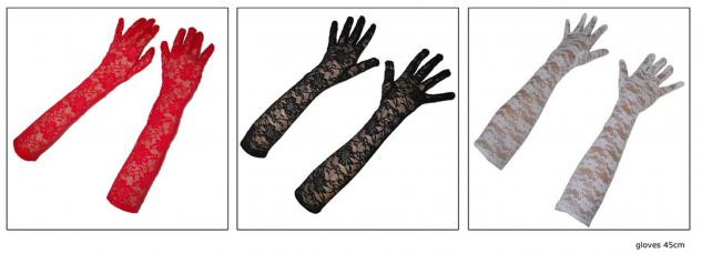 Spitzen-handschuhe Handschuh-e Spitze lang schwarz Einheitsgroße Karneval Party