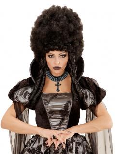 Halskette Choker Gothic mit Kreuz Damen und Ring Gothic schwarz KK
