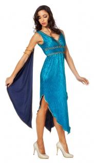 Griechische Göttin Kostüm Damen Venus Griechin Römerin blau Fasching Karneval KK
