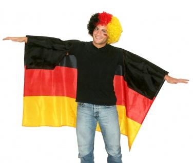Deutschland Kostüm Flagge als Poncho Cape Umhang Fan-Artikel Fußball EM WM 2021