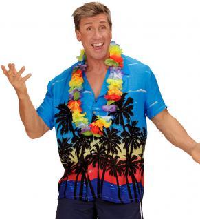 Hawaii-hemd Hawaii Kostüm Aloha-Shirt Palmen bunt Herren-kostüm KK