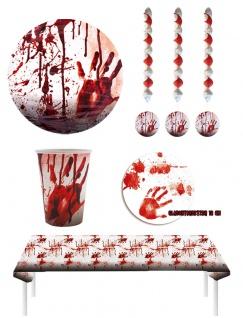 Halloween Party Deko Set Blut Tischdeko Girlanden KK