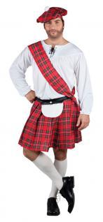 Karneval Klamotten Kostüm Schotte Mac Gregor Herr Karneval Kilt Herrenkostüm