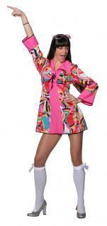 Hippie Kleid Hippie Kostum Flower Power 60er 70er Jahre Groovy Damen