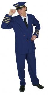 Pilotenkostüm Herren Pilot mit Pilotenmütze KK