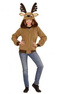 Rentier Kostüm Damen Rudolph Elch Reh Rentierjacke Weihnachten Weihnachtskostüm