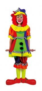 Clown Kostüm Kinder Mädchen bunt Clownkostüm Kinderkostüm Fasching Karneval KK