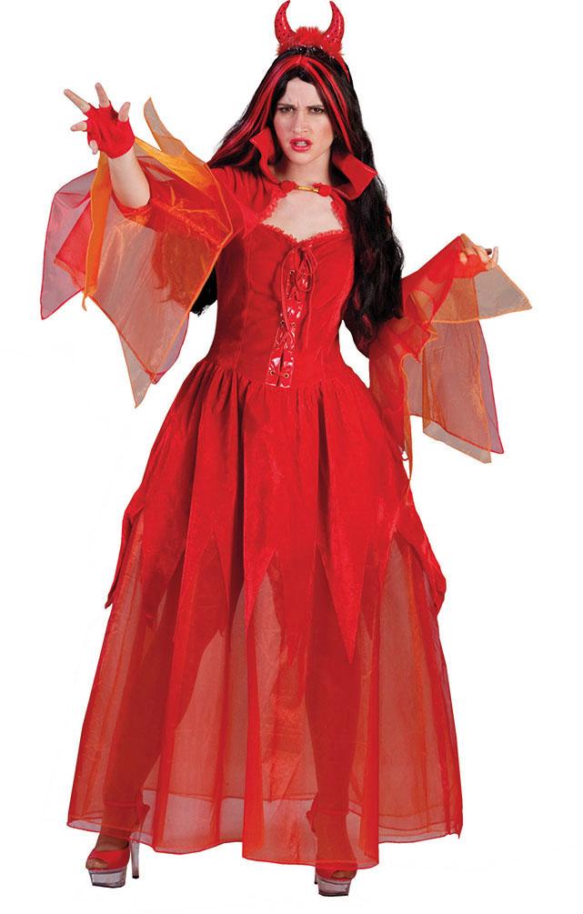 Teufel Kostum Damen Satan Kostum Teufelin Halloween Kostum Karneval