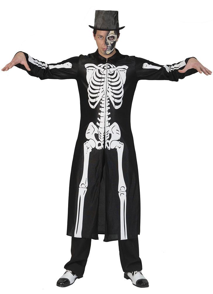 Detaillierung beliebte Marke jetzt kaufen Skelett-Kostüm Skelett-Mantel mit Skelett-Aufdruck Horror Kostüm Halloween  KK