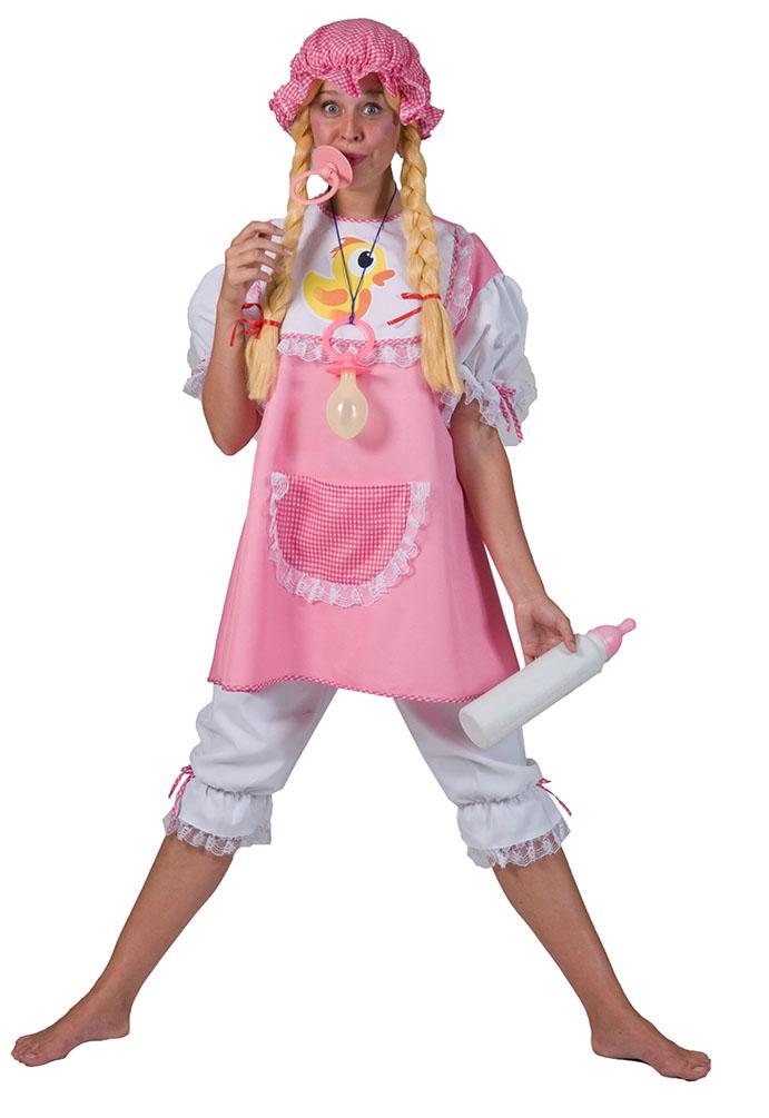 2be93ddda487 Baby Kostüm Erwachsenen rosa Riesenbaby Damenkostüm Karneval Fasching KK
