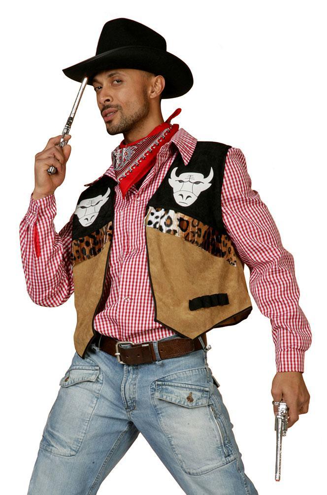 Kostum Cowboy Herren Westernkostum Cowboyweste Western Weste Buffalo